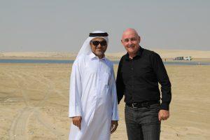 In der arabischen Wüste nahe Saudi Arabien